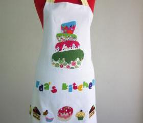 Mothers Days Gift Apron Set, chef cap oven glove and double sided apron great gift new Pastry Cake Apron