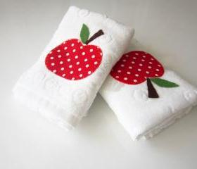 Mothers Days gift 2 pcs Towel . Tea towel . Kitchen towel .